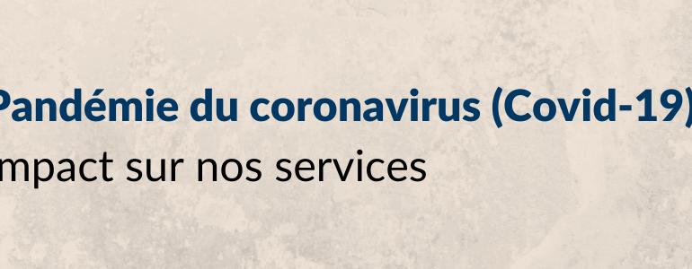 Pandémie du coronavirus (Covid-19)