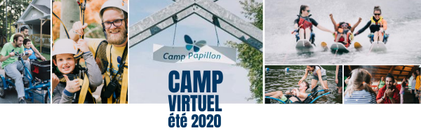 Camp Papillon virtuel : le feu de camp.