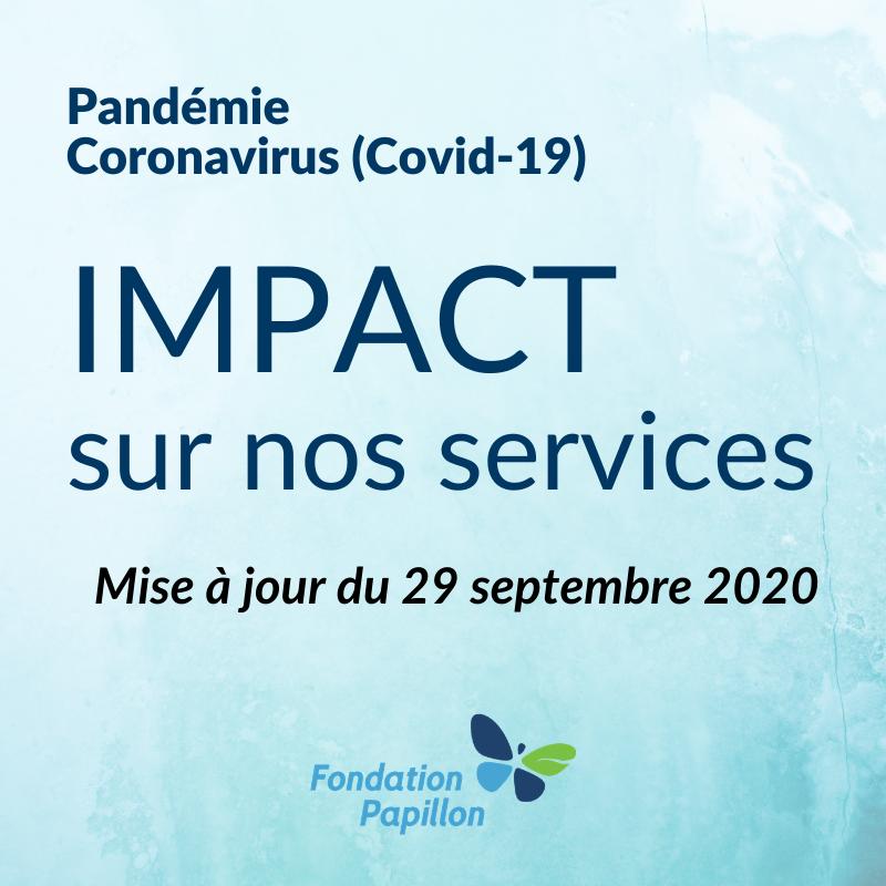 Covid-19_Impact au 29 septembre 2020