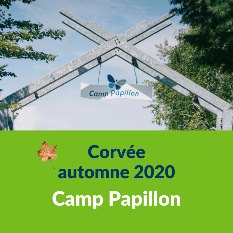 Corvée automne 2020 du Camp Papillon