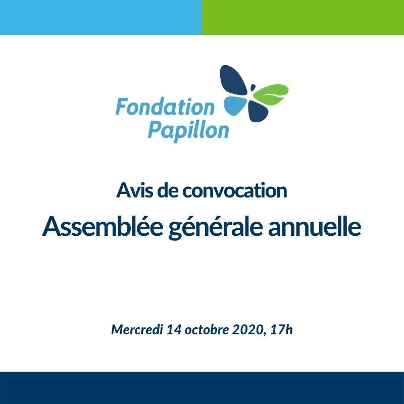Convocation à l'assemblée générale annuelle 2020