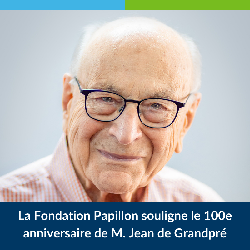 100e anniversaire de M. Jean de Grandpré